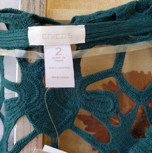 Chico's Sweaters - NWT Chico's Delicate Camilla Crochet Cardigan M